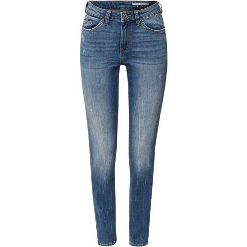 edc by Esprit Slim-fit-Jeans im stylischen Destroyed-Look, Blue light washed
