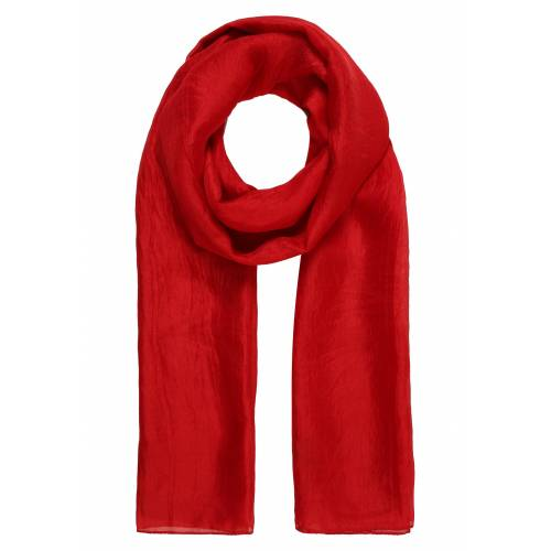 er piu Schal aus feiner Seide, rot