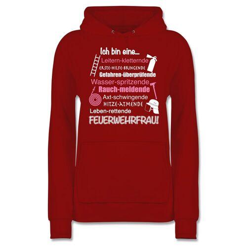 Shirtracer Hoodie »Ich bin eine ... Feuerwehrfrau! - Damen Premium Kapuzenpullover - Pullover & Hoodies« Feuerwehr, 04 Rot