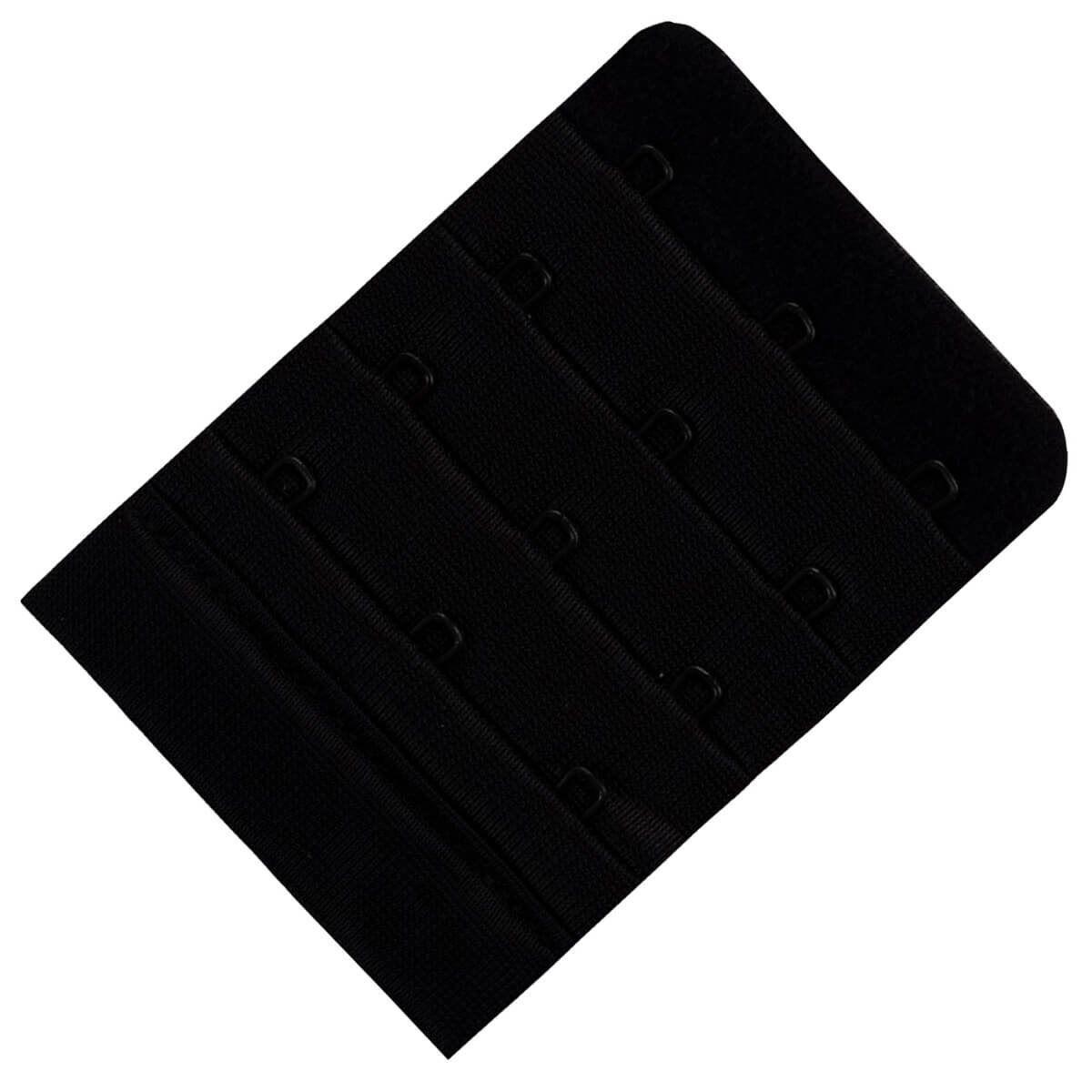 Miss Perfect BH-Verlängerung »W2G50500-38«, mit 1, 2, 3 oder 4 Haken und softer Plüschrückseite, Schwarz