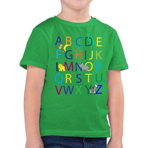 Shirtracer T-Shirt »ABC Einschulung - Einschulung und Schulanfang - Jungen Kinder T-Shirt« einschulungs geschenke, 2 Grün