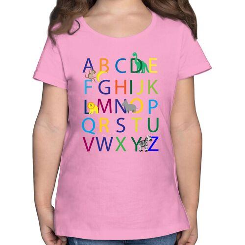 Shirtracer T-Shirt »ABC Einschulung - Einschulung und Schulanfang - Mädchen Kinder T-Shirt« einschulungs geschenke, 02 Rosa