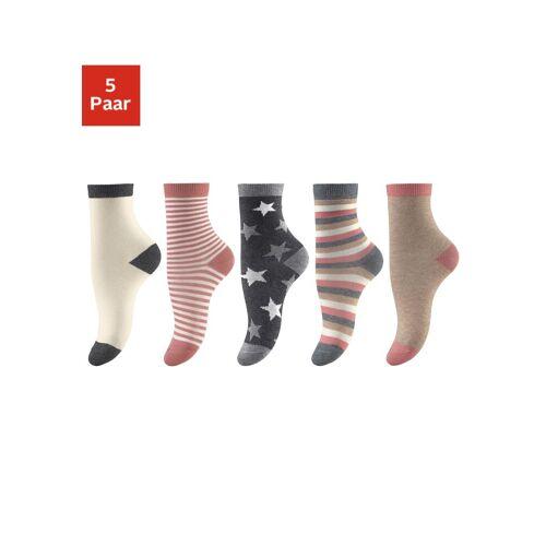 Socken (5-Paar) in 5 verschiedenen Designs