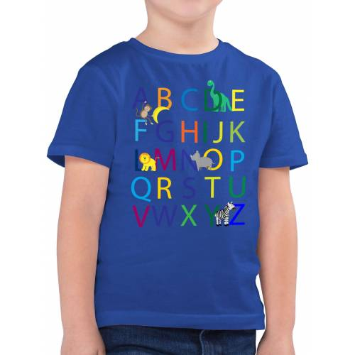 Shirtracer T-Shirt »ABC Einschulung - Einschulung und Schulanfang - Jungen Kinder T-Shirt« einschulungs geschenke, 3 Royalblau