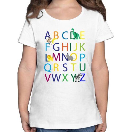 Shirtracer T-Shirt »ABC Einschulung - Einschulung und Schulanfang - Mädchen Kinder T-Shirt« einschulungs geschenke, 03 Weiß
