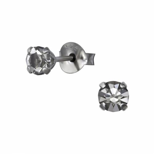 Monkimau Paar Ohrstecker »Kristall Ohrringe 925 Silber Kinder Ohrstecker« (2 x Ohrstecker (1 Paar), mit Kristallen