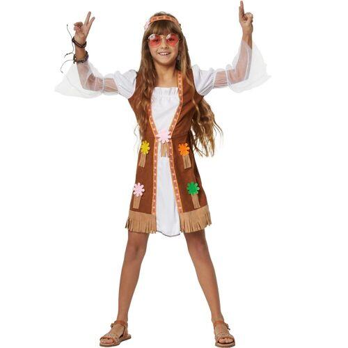 tectake Hippie-Kostüm »Mädchenkostüm Groovy Hippie Squaw«