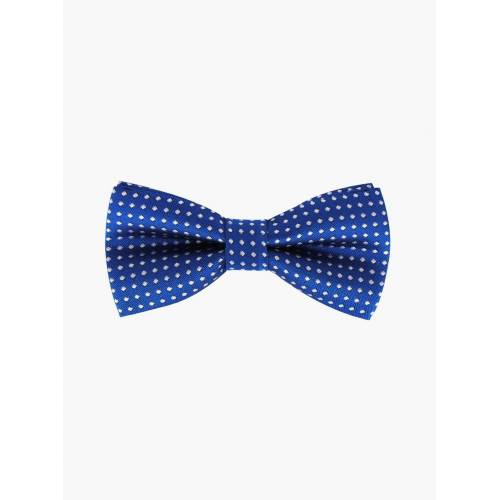 axy Fliege »Kinder Jungen Fliege gebunden 10 x 5 cm« bereits gebunden, verstellbar, mit Punkten, Blau