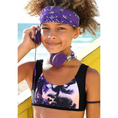 Sunseeker Bustier-Bikini mit Palmendruck
