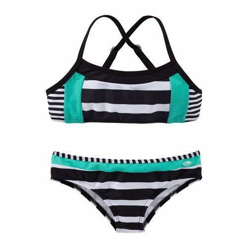 KangaROOS Bustier-Bikini mit Blockstreifen