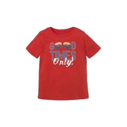 TOM TAILOR T-Shirt »T-Shirt mit großflächigem Print«, rot