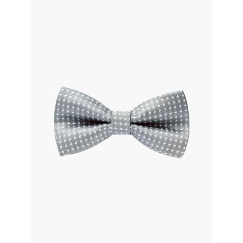 axy Fliege »Kinder Jungen Fliege gebunden 10 x 5 cm« bereits gebunden, verstellbar, mit Punkten, Grau