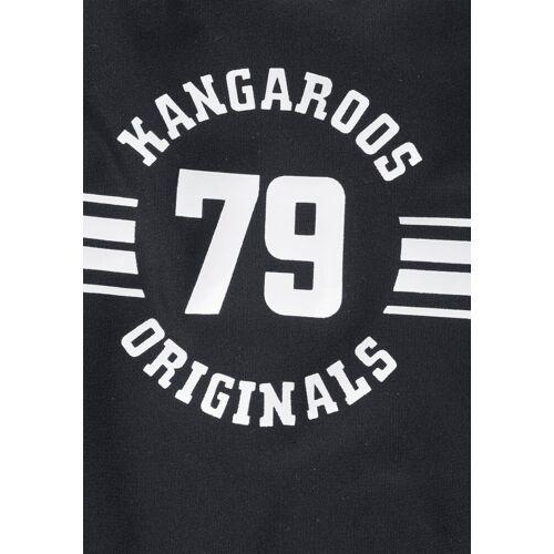 KangaROOS Tankini »Sporty« mit sportlichem Frontdruck, schwarz