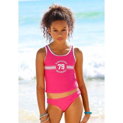 KangaROOS Tankini »Sporty« mit sportlichem Frontdruck, pink