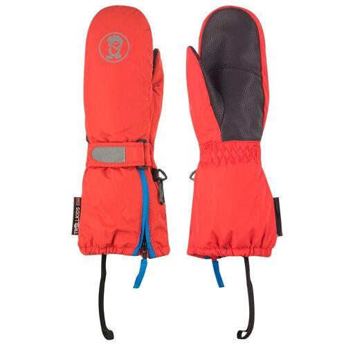 TROLLKIDS Skihandschuhe »Troll« Wasserdicht, Rot / Mittelblau