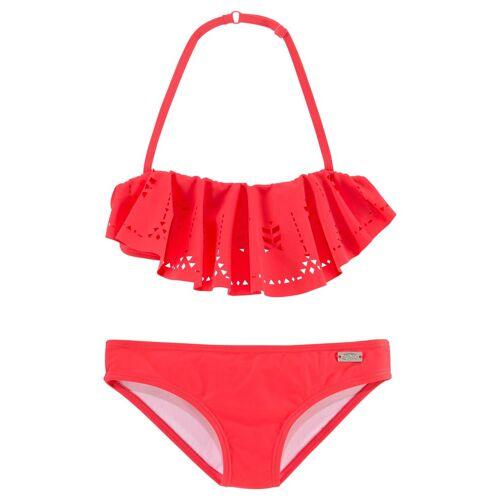 Buffalo Bandeau-Bikini mit modischem Volant, hummer