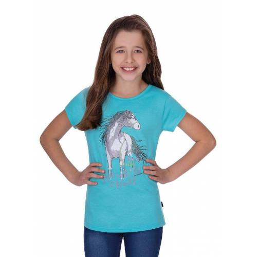 Trigema T-Shirt mit Pferd, mint