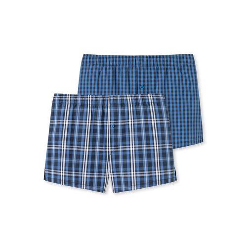 Schiesser Boxershorts »Jungen Webboxer Shorts 2 Pack - Boxershorts,«, Blau