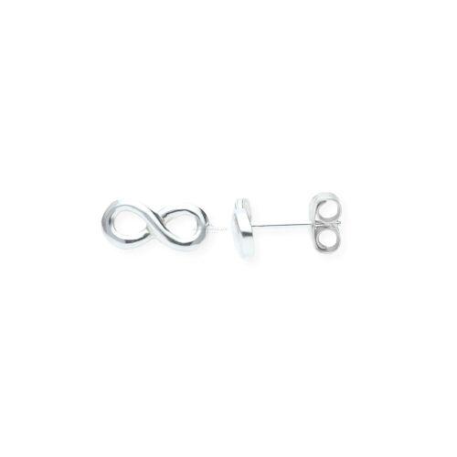 JuwelmaLux Paar Ohrstecker »Ohrstecker Unendlichkeit 925er Sterling Silber«