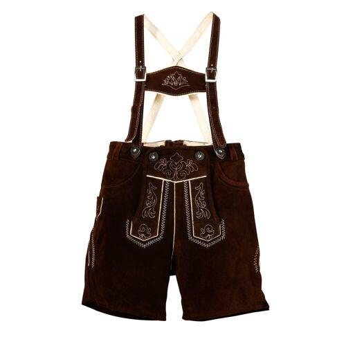 MarJo Trachtenlederhose (2-tlg., mit Hosenträgern) Kinder mit Stickerei