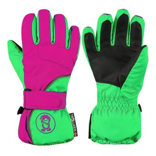 TROLLKIDS Skihandschuhe »Troll« Wasserdicht, Grün/Pink