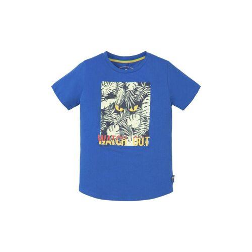 TOM TAILOR T-Shirt »T-Shirt mit großflächigem Print«, blue