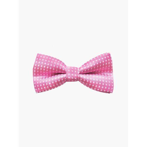 axy Fliege »Kinder Jungen Fliege gebunden 10 x 5 cm« bereits gebunden, verstellbar, mit Punkten, Pink