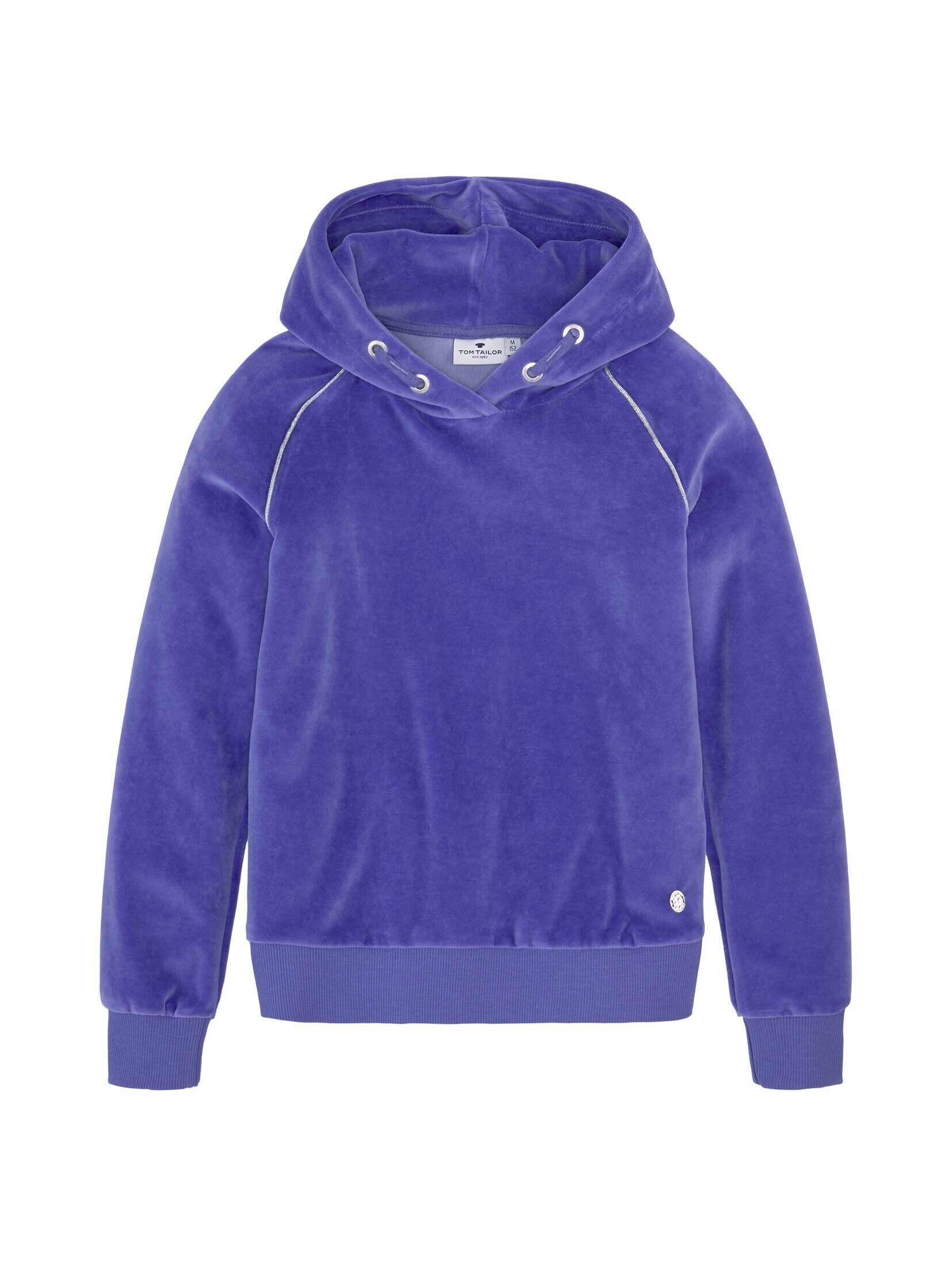 TOM TAILOR Sweatshirt »Nicki Hoodie mit Glitzerstreifen«, blau