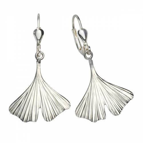 Vivance Paar Ohrhänger »925/- Sterling Silber Ginkgo«, mit Geschenketui