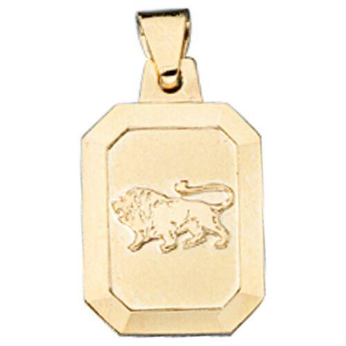 Jobo Sternzeichenanhänger, Sternzeichen Löwe 333 Gold