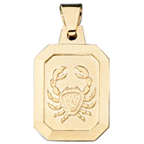 Jobo Sternzeichenanhänger, Sternzeichen Krebs 333 Gold