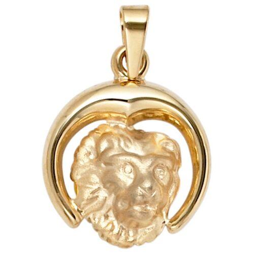 Jobo Sternzeichenanhänger, Sternzeichen Löwe 375 Gold