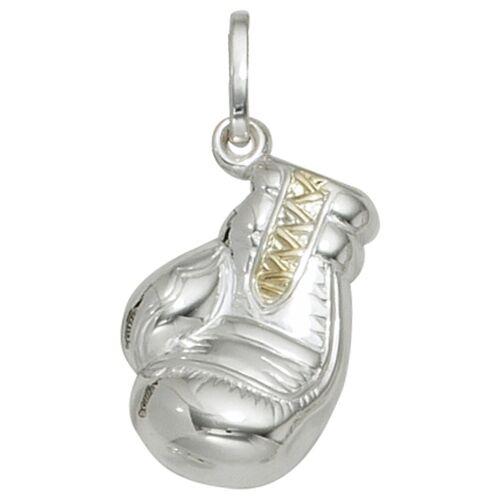 Jobo Kettenanhänger »Boxhandschuh«, 925 Silber bicolor vergoldet