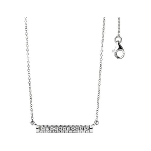 Jobo Collier, 925 Silber mit Zirkonia 45 cm