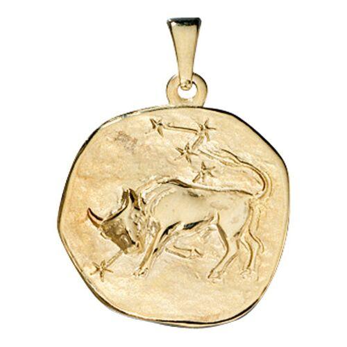 Jobo Sternzeichenanhänger, Sternzeichen Stier 333 Gold