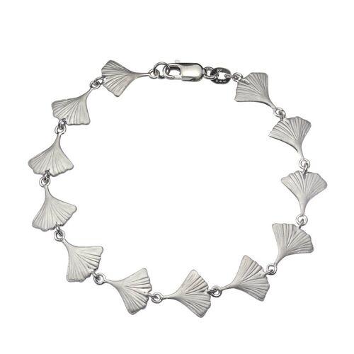 Vivance Armband »925/- Sterling Silber rhodiniert Ginkgo«, weiß