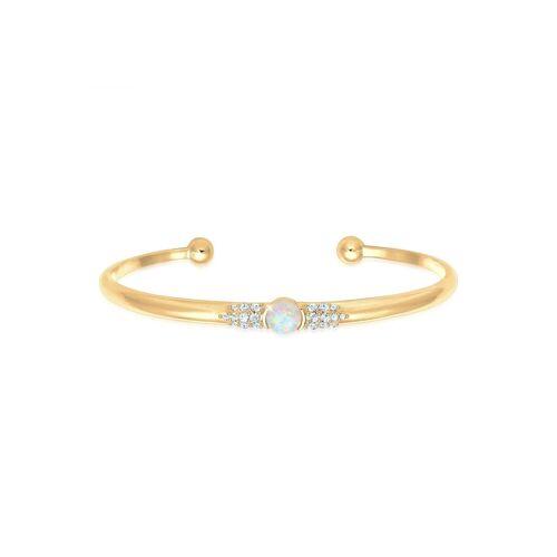 Elli Armreif »Armreif Offen Opal Kristall 925 Silber«