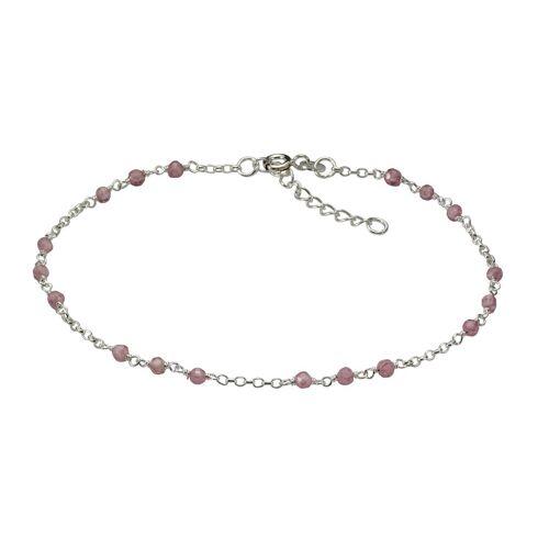 Vivance Fußkette »925/- Sterling Silber rhod. Kristalle«, mit Geschenketui