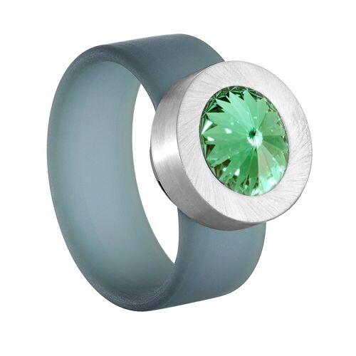 Heideman Fingerring »Colori Blau« (1-tlg), mit Kristall Austauschbar, Chrysolite