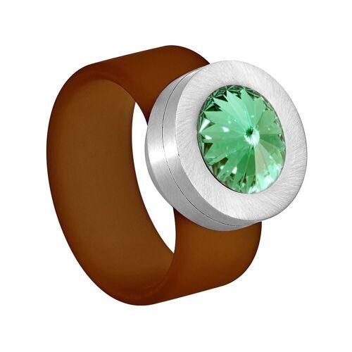 Heideman Fingerring »Colori Brown« (1-tlg), mit Kristall Austauschbar, Chrysolite