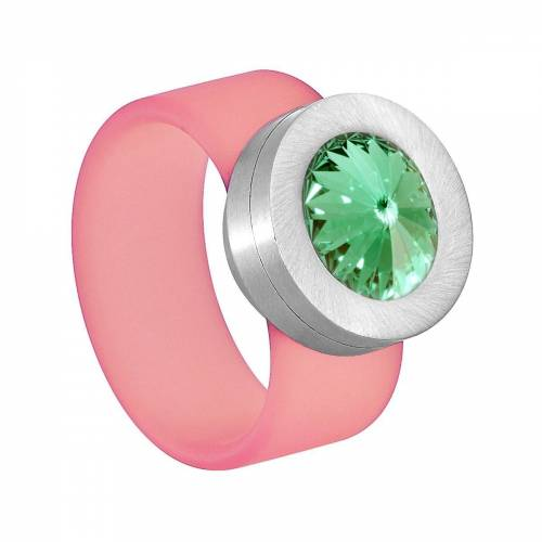 Heideman Fingerring »Colori Rosa« (1-tlg), mit Kristall Austauschbar, Chrysolite