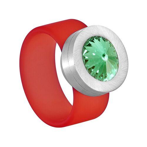 Heideman Fingerring »Colori Rot« (1-tlg), mit Kristall Austauschbar, Chrysolite