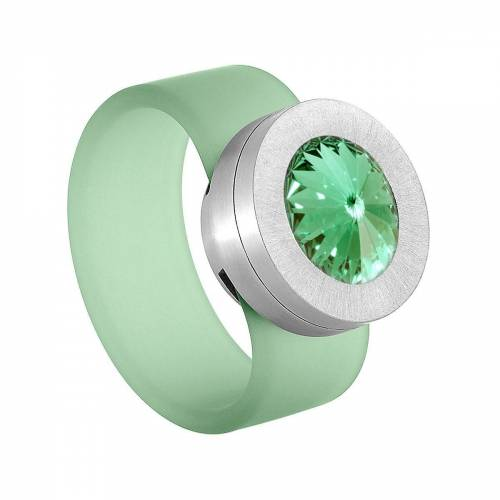 Heideman Fingerring »Colori Grün« (1-tlg), mit Kristall Austauschbar, Chrysolite
