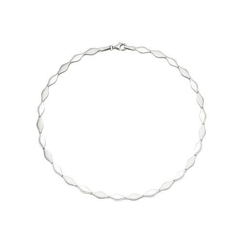 Jobo Collier, 925 Silber mit 145 Zirkonia 45 cm