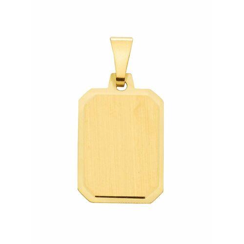 Adelia´s Kettenanhänger »585 Gold Gravurplatte Anhänger«