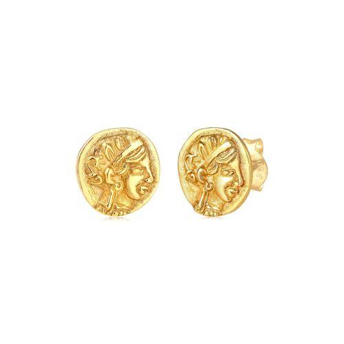 Elli Paar Ohrstecker »Stecker Coin Münze Vintage Antik 925 Silber«