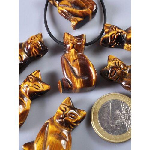 Adelia´s Kettenanhänger »Tigerauge Anhänger Katze«