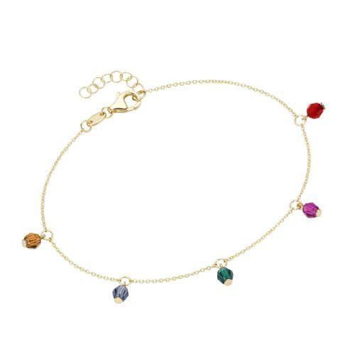 Luigi Merano Armband »mit farbigen Kristallsteinkugeln, Gold 375«
