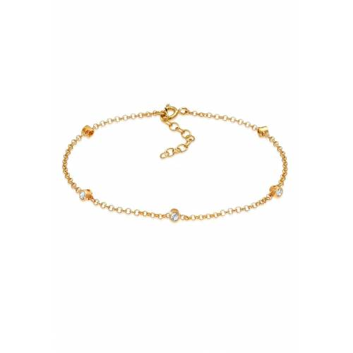 Elli Armband »Kristalle Klassik 925 Silber«, Kristall Armband, Gold