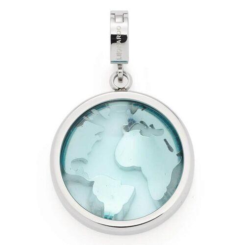 LEONARDO Charm-Einhänger »Globus, Mondo Clip&Mix, 018475«, mit Kristallglassteinen